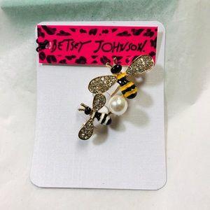 Double bumblebee brooch